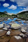 Glacial Lake And Rocks At National Park Pirin, Bulgaria