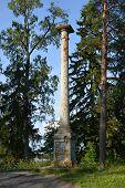 Old column in Mon Repos park