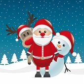 foto of rudolph  - rudolph reindeer red nose look santa claus - JPG