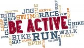Actieve Fitness Word Cloud Collage