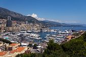 Panorama View in Monaco, on a sunny day