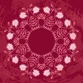 Floral Circle Ornament
