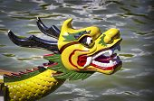 foto of dragon head  - Colored and traditional dragon head from a dragon boat - JPG