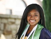 stock photo of degree  - Happy African - JPG