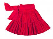 picture of mini-skirt  - red skirt - JPG