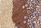 Coffee Beans, Freeze-dried And Ground Coffee