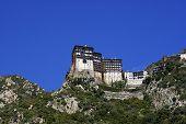 Monasterio de Simonos Petra en el Monte Athos en Grecia