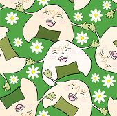 Onigiri with daisy.