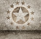 Gold Star Hollywood Event Background. Walk Of Fame