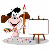 cartoon dog artist