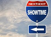 Showtime road sign