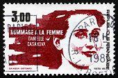 Briefmarke Frankreich 1983 zeigt Daniele Casanova, Widerstand Führer