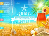 Vacation, travel and summer holidays vector design
