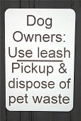 pic of pooper  - It would be nice if everyone read and followed this sign when they walked their pets - JPG