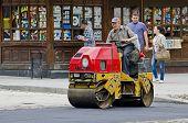Road Roller Compacted Asphalt