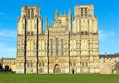 English Cathedral Wells Somerset Gothic