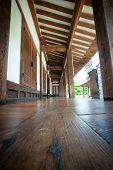 stock photo of hangul  - Wood flooring on korean tranditional hangul house