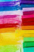 Постер, плакат: Красочные Мел пастели образование искусство творческий снова в школу