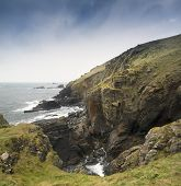 Landscape of Lizard Point the most Southerly point in Britain
