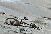 image of excrement  - Bike covered with Mud after a Flood - JPG