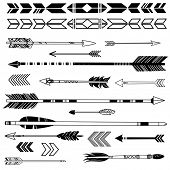 stock photo of aztec  - A set of cute hipster arrows - JPG