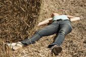 Woman Lying Dead In The Field