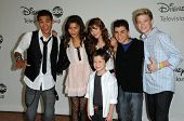 Roshon Fegan, Zendaya, Bella Thorne, Adam Irigoyen, Kenton Duty, Davis Cleveland at the Disney ABC T