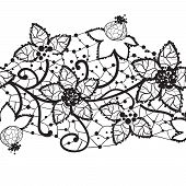 floral lace, seamless vector