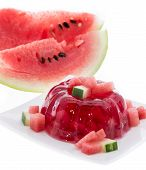 Watermelon Jello On White