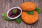 Fried Camenbert With Cranberry Sauce