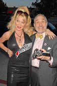 Shelley Michelle and Lloyd Kaufman at the 35th Troma Anniversary Event, New Beverly Cinema, Los Ange