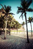 image of ipanema  - View of Ipanema Beach in the evening Brazil - JPG