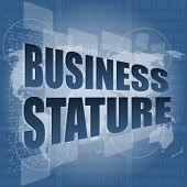 stock photo of stature  - business stature interface hi technology - JPG