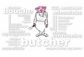 picture of drow  - Figurativ drowings of a pigfaced butcher - JPG