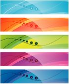 The collection of colorful backgrounds