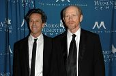 Brian Grazer and Ron Howard at the  Simon Wiesenthal Center's 2010 Humanitarian Award, Beverly Wilsh