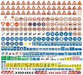 pic of pedestrians  - European traffic signs collection - JPG