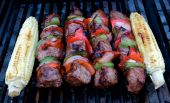 Kabobs and Corn