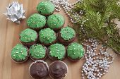 picture of hazelnut tree  - Christmas Tree Muffins with chocolate - JPG