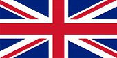 UK flag vector illustration