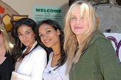 Emmanuelle Chriqui, Rosario Dawson and Daryl Hannah at the EMA Celebrates the Garden Challenge by