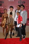 Jada Pinkett Smith, Jackie Chan, Will Smith, Trey Smith, Willow Smith and Jaden Smith  at