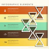 Abstract Banner With Hourglass Infographics