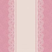 stock photo of frilly  - Vintage lace border on seamless background - JPG