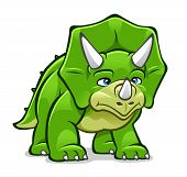 Cartoon Triceratops