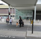 LONDON- JUNE 24: The new stratford international train station sits in the heart of londons stratfor
