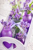 Lavender In Bottles Decor