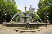 City Hall Park Fountain in Manhattan