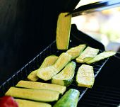 Roasted Vegetables, Prepared Outdoors.