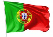Flag Of Portugal On Flagpole